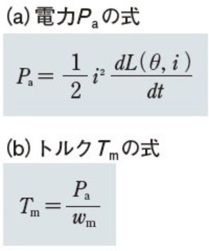 図4 SRモーターの電力とトルク算出