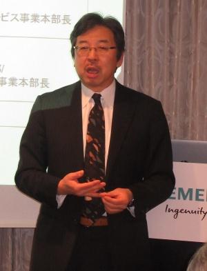 シーメンス 代表取締役社長 兼 CEOの藤田研一氏