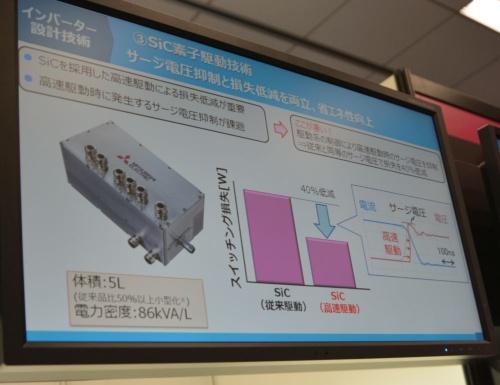 スイッチング損失を最大約40%減らせるSiC素子の駆動技術