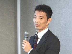 新型磁石を発表した先進技術開発カンパニーの庄司哲也氏