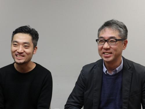 パルコのCDO(最高デジタル責任者)である林直孝執行役グループICT戦略室担当(右)と、同室の伊藤健氏