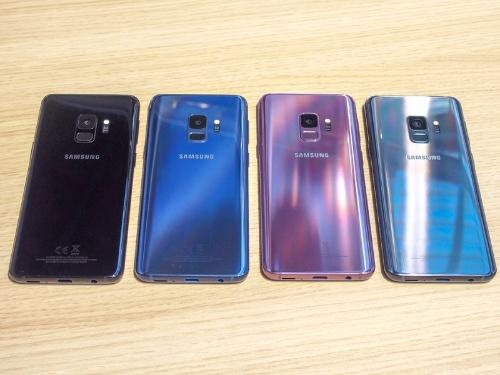 韓国サムスン電子の「Galaxy S9/S9+」(撮影:山口 健太)