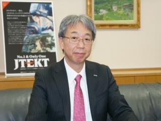 ジェイテクト常務執行役員ステアリング事業本部副本部長技術開発部門担当の松岡浩史氏