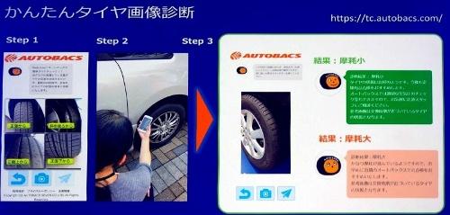 タイヤの摩耗状態を手軽に確認できる「かんたんタイヤ画像診断」