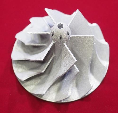 図1 アルミニウム合金「ADC12」を使って3Dプリンターで造形したサンプル