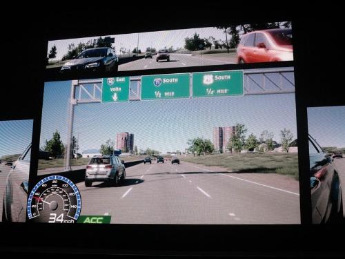 図2 VR環境における走行試験の例