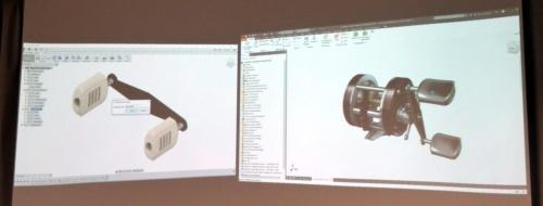 図2 クラウドのCAD「Fusion 360」(左)と「Autodesk Inventor」(右)の連携