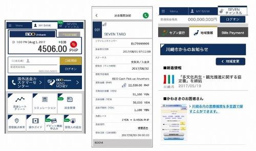 セブン銀行が開発した海外送金サービスのスマホアプリ
