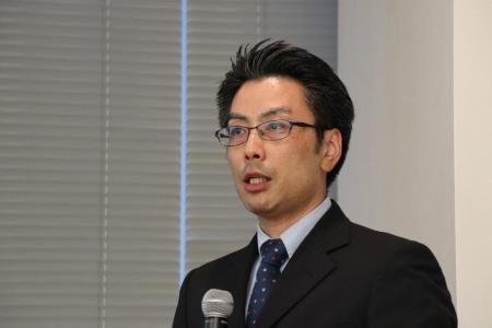不動産テックの動向などを解説した東京大学大学院の山崎俊彦准教授