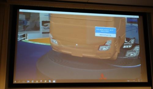 ヘッドライトのデザインをHoloLens上で変更しているデモ映像