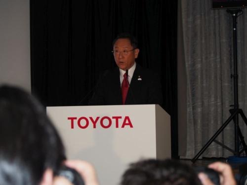 2018年3月期の決算説明会に登場したトヨタ自動車社長の豊田章男氏