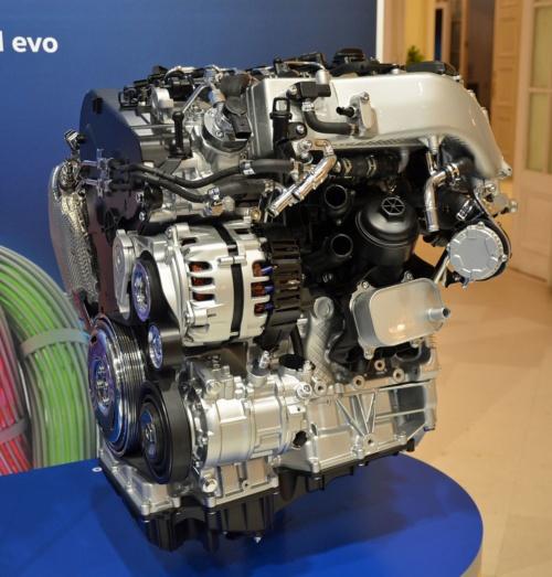 排気量2.0Lで直列4気筒ディーゼルエンジン「EA288 evo」