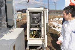 図2 携帯電話基地局のそばに、MEC(Multi-access Edge Computing)と呼ばれるデータ処理サーバーを配置した