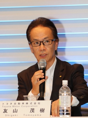 図2 発表会に登壇したトヨタ副社長の友山茂樹氏