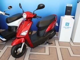 図2 小型のEVバイク「Nice 100 EV」にIWMを搭載
