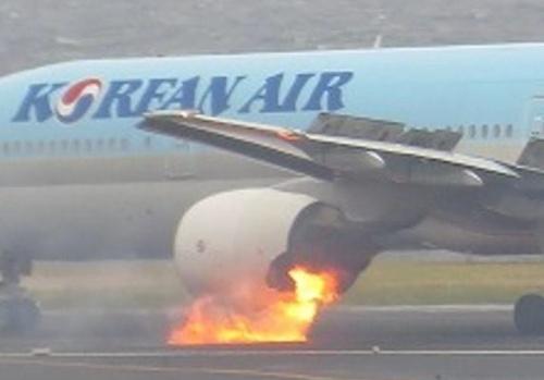図1 出火した大韓航空2708便(ボーイング777-300型)