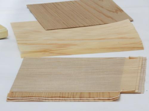 木質マイクロプライのサンプル
