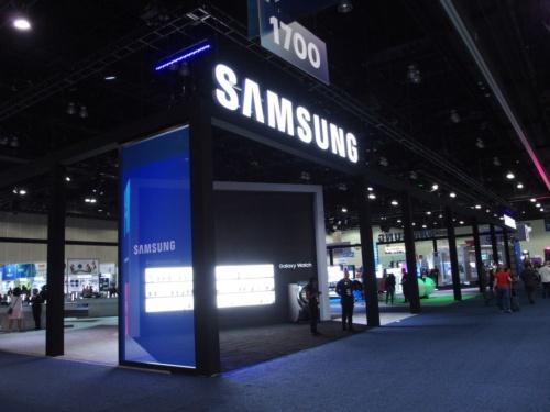Samsung Electronics North Americaのブース(撮影:日経 xTECH)