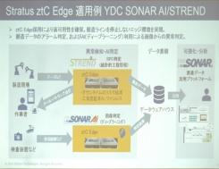 ワイ・ディ・シーによるztC Edge 100i活用例。SPC(統計的工程管理)や深層学習(ディープラーニング)技術を活用した品質判定などを行っている。(スライドの出所:日本ストラタステクノロジー)