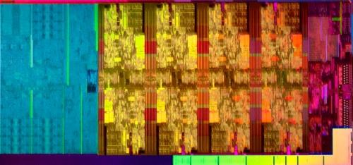 第9世代Coreのダイ。Intelの写真