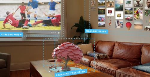 現実空間にランドスケープアプリを複数配置した例