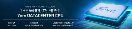 次世代EPYC(開発コード名:Rome)の概要。AMDのスライド