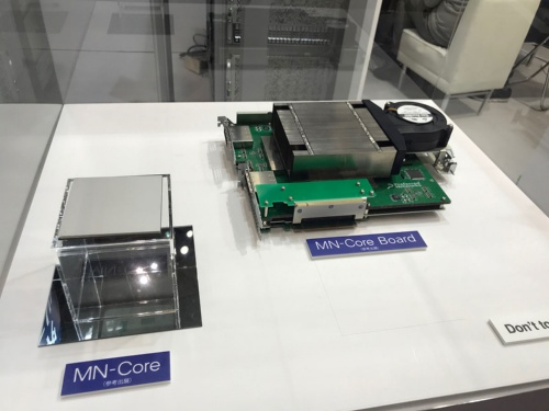 MN-Coreのパッケージと搭載ボード