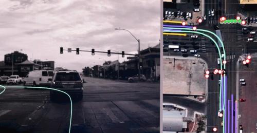 図1 車載カメラを用いたリアルタイム地図更新の例