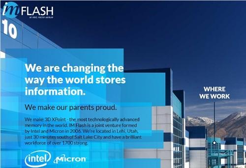 米IM Flash Technologies社のホームページの一部。従業員募集のコーナー。(出所:同社のホームページ)