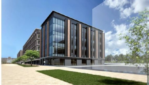 JX金属が東北大青葉山新キャンパスに建設予定のインターコネクト・アドバンストテクノロジーセンター(ICAT)の予想図