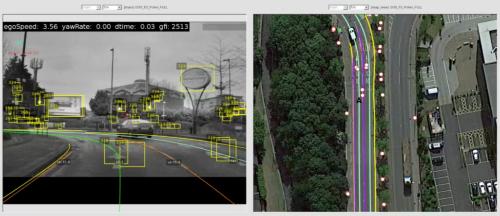 図1 車載カメラで撮影した映像を基に地図データを生成するREM技術(出所:Mobileye)
