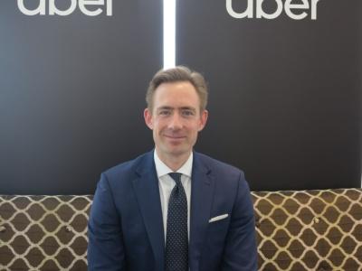 図4  Uber Japanモビリティ事業ゼネラルマネージャーのトム・ホワイト(Tom White)氏