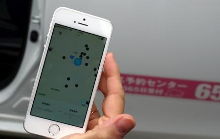 乗降するバス停を地図から選んで予約できるスマホアプリ