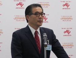 味の素 代表取締役専務執行役員 アミノサイエンス事業本部長の福士博司氏