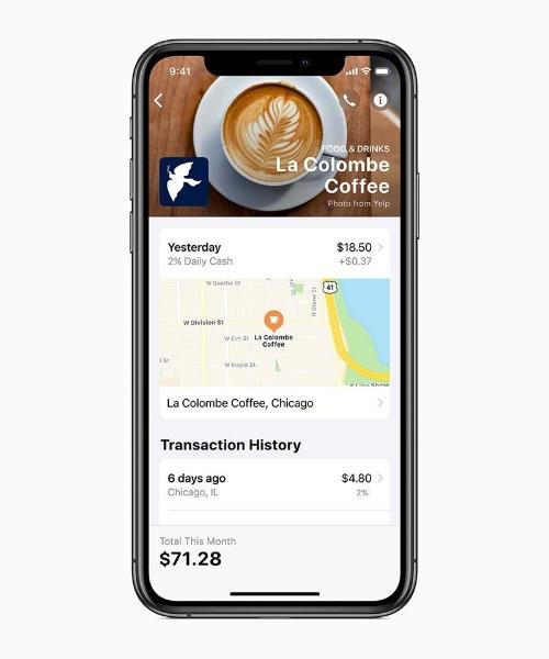 「Wallet」アプリで確認した購買情報