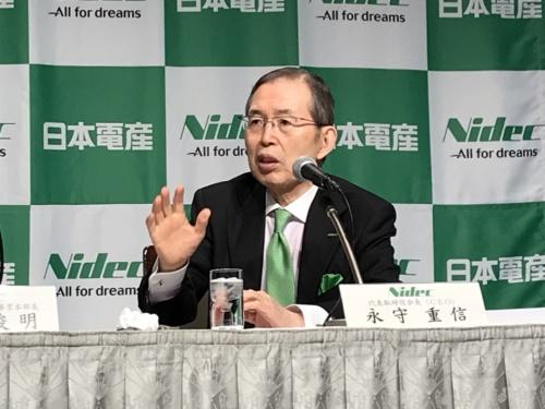 図1 日本電産の代表取締役会長(CEO)の永守重信氏