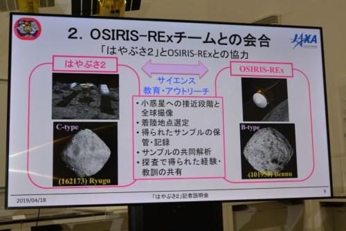 図2 はやぶさ2プロジェクトとOSIRIS-RExミッションの協力内容