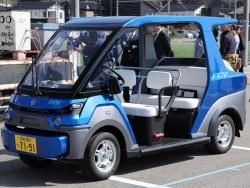 図1 ヤマハ発動機の小型4輪燃料電池車(FCV)「YG-M FC」の試作モデル(撮影:日経 xTECH)