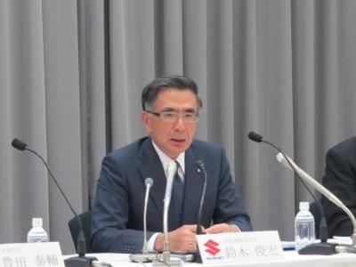 スズキ社長の鈴木俊宏氏