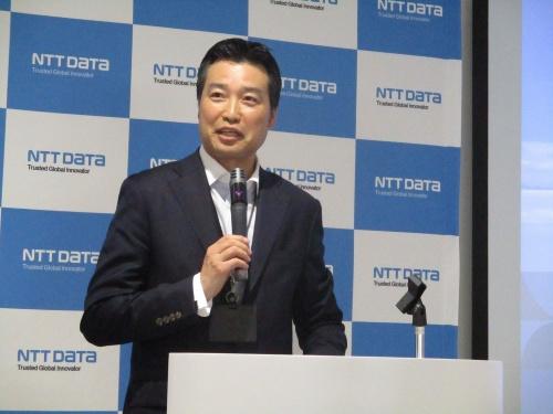 NTTデータの花谷昌弘金融事業推進部デジタル戦略推進部部長