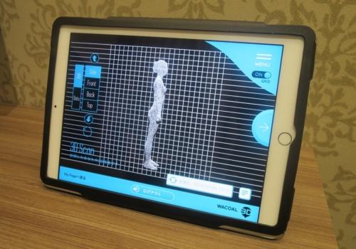 3D計測は、約150万の点を集合させたポリゴンとして人体を表現する