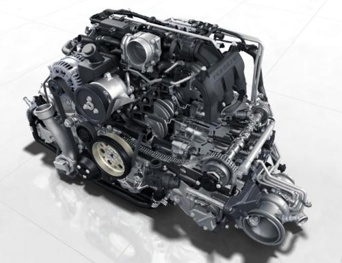 「ボクサーシックス」と呼ばれる水平対向6気筒ガソリンエンジン。(出所:ポルシェ)
