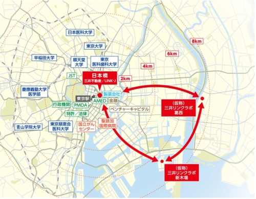 賃貸ウェットラボは2019年9月に東京都江戸川区、20年12月には江東区で竣工する予定。都心近接の研究環境を提供することで、人材獲得や資金提供者との交流の機会を増やす