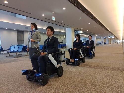 成田空港での実証実験の様子