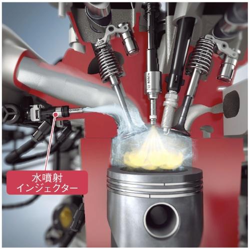 BMWは、2016年に発売した高性能スポーツ車「M4 GTS」に搭載する直列6気筒直噴ターボガソリンエンジンに、ボッシュが開発した水噴射技術を採用した。(出所:ボッシュ)