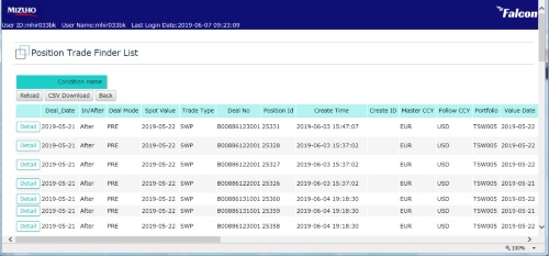 Webフロントエンドのイメージ(開発段階の画面)
