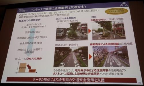 危険運転が多いエリアを特定し、対策の効果を検証した例