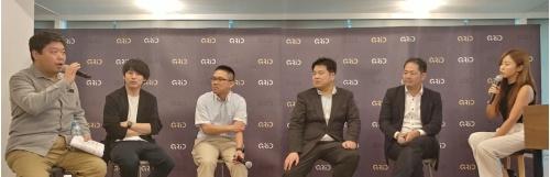 日本ブロックチェーン協会が開いたLibra関連セミナーでのパネルディスカッション。左から2番目がLayerXの福島良典社長