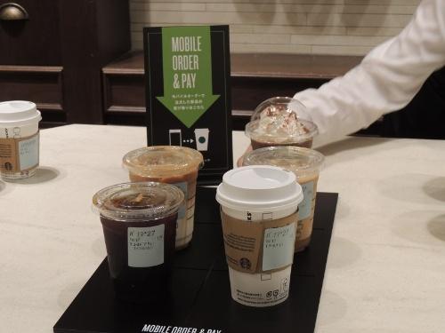 注文したコーヒーはMobile Order & Pay専用の場所に置かれる