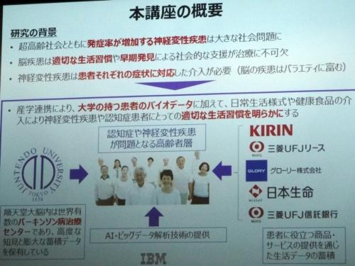 共同研究講座の概要(撮影:日経 xTECH)